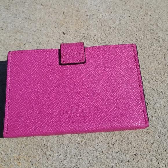 Coach Accessories Leather Accordion Business Card Case Poshmark